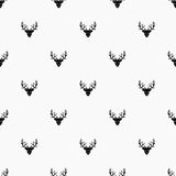 Doodle Hand Drawn Seamless Patterns with Deers Royalty Free Stock Photography