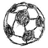 Doodle hand drawn soccer ball icon Royalty Free Stock Photo