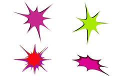 Doodle hand drawn star burst icon on white background. Illustration design