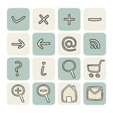 Doodle hand drawn vector icons set Royalty Free Stock Photography
