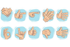 Doodle Hand Sign Icons Royalty Free Stock Image
