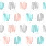 Doodle handmade seamless pattern background. Stock Photos