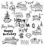 Doodle Happy Birthday Stock Photography
