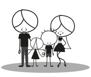 Doodle Happy Family Royalty Free Stock Images