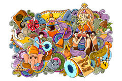 Doodle for Happy Ganesh Chaturth Royalty Free Stock Photography