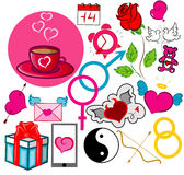Doodle Happy Valentine`s Day Royalty Free Stock Photography