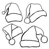 Doodle hats Santa Claus Stock Photo