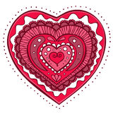 Doodle heart Stock Image