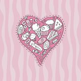 Doodle Heart Royalty Free Stock Images