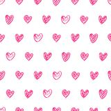 Doodle heart background Royalty Free Stock Photo