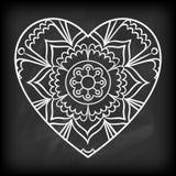 Doodle Heart Mandala Stock Photography
