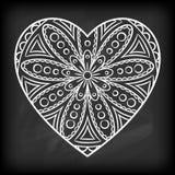 Doodle Heart Mandala Stock Photos