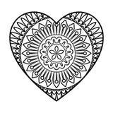 Doodle Heart Mandala Royalty Free Stock Image
