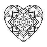 Doodle Heart Mandala Royalty Free Stock Photo