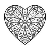 Doodle Heart Mandala Stock Photo