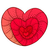 Doodle heart Royalty Free Stock Photo