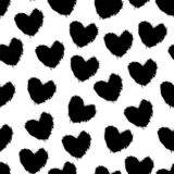 Doodle hearts grunge texture vector illustration