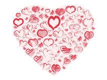 Doodle hearts Royalty Free Stock Images