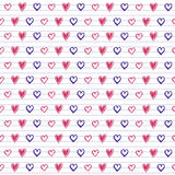 Doodle hearts on Lined Sketchbook Paper Background Royalty Free Stock Photo