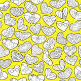 Doodle hearts Stock Photo