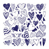 Doodle hearts set Royalty Free Stock Photo