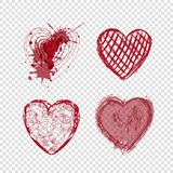 Doodle hearts, valentines day, love holiday Stock Image