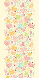 Doodle Hearts Vertical Seamless Pattern Background Royalty Free Stock Image