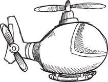 Doodle Helicopter Vector Royalty Free Stock Photo