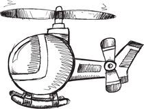 Doodle Helicopter Vector Stock Images