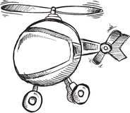 Doodle Helicopter Vector Stock Photo