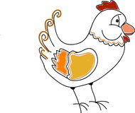 Doodle Hen Royalty Free Stock Image