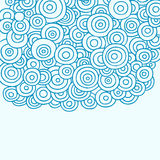 Doodle Henna Abstract Circles Vector Royalty Free Stock Images