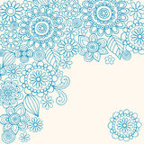 Doodle Henna Abstract Flowers Vector. Hand-drawn Doodle Henna Abstract Flowers Vector Illustration Royalty Free Stock Photography