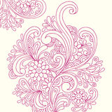 Doodle Henna Abstract Flowers Vector. Hand-drawn Doodle Henna Abstract Flowers Vector Illustration Stock Photo