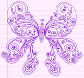 Doodle Henna Sketch Butterfly Royalty Free Stock Photos