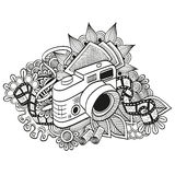 Doodle hipster camera Royalty Free Stock Image