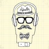 Doodle Hipster Style on Paper Royalty Free Stock Image