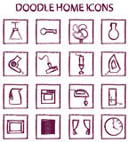 Doodle home icons Royalty Free Stock Photography