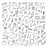 Doodle home related trendy elements. Stock Images
