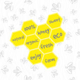 Doodle honeycomb pattern Royalty Free Stock Images