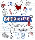 Doodle hospital icons Stock Photos