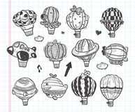 Doodle hot air balloon icon Royalty Free Stock Image