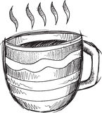 Doodle  Hot Coffee Vector Stock Photography