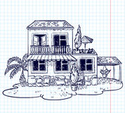 Doodle house Stock Image