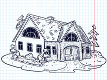 Doodle house Stock Images