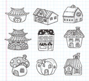 Doodle house icon Royalty Free Stock Photos