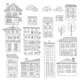 Doodle houses collection Royalty Free Stock Photos