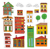 Doodle houses collection Royalty Free Stock Images
