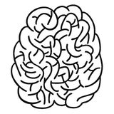 Doodle human brain Outline design Stock Photos