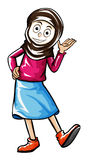 Doodle human character for female muslim Stock Photos